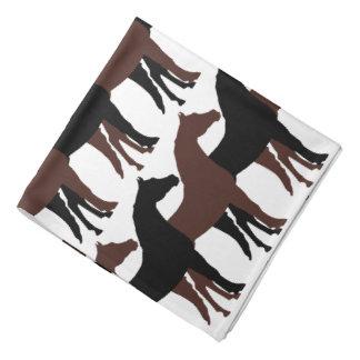 Negro, caballos de Brown/fondo blanco Bandanas