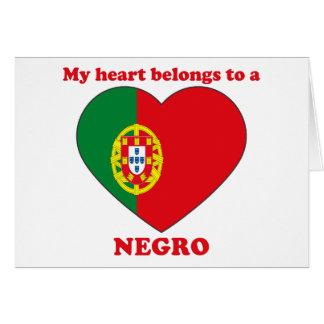 Negro Greeting Card