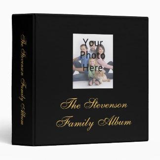 Negro carpeta personalizada Amarillo-Oro del álbum