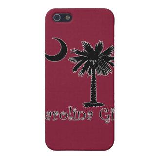 Negro/caso del iPhone 4 del chica de Carolina del iPhone 5 Carcasas