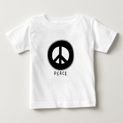 Negro casual del signo de la paz remera