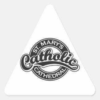 Negro católico de la catedral de St Mary Calcomanía De Triangulo Personalizadas