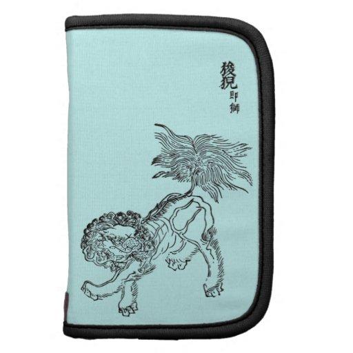 Negro chino del shishi del león organizador