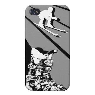 Negro clásico de la bota de esquiar del caso del i iPhone 4 cárcasas