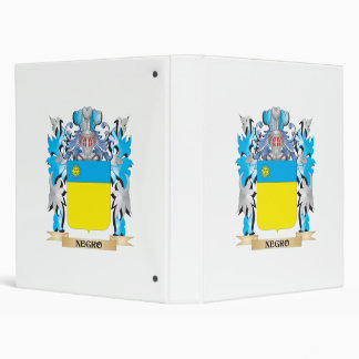 Negro Coat of Arms - Family Crest 3 Ring Binder