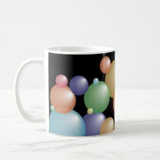 Negro coloreado de las burbujas tazas