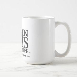 Negro completo del logotipo de los gatos comunes tazas de café