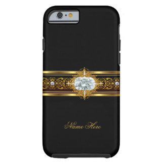negro con clase elegante del oro del caso del