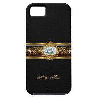 negro con clase elegante del oro del iPhone 5 flor iPhone 5 Case-Mate Carcasas