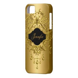 negro con clase elegante del oro del iPhone 5 iPhone 5 Case-Mate Carcasa