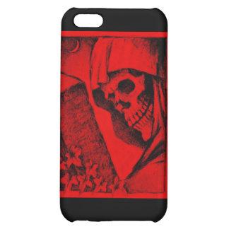Negro con diseño rojo de la muerte