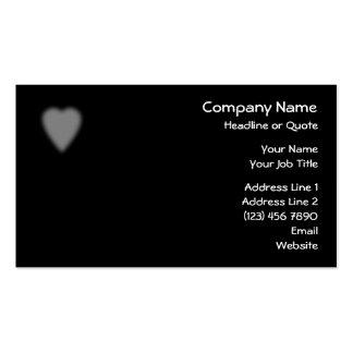 Negro con el corazón brumoso tarjetas de visita