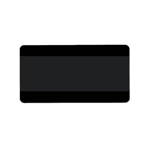Negro con el espacio en blanco del llano de una ba etiqueta de dirección