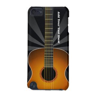 Negro con el tacto de encargo de iPod de la guitar Funda Para iPod Touch 5G