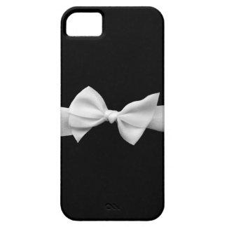 Negro con la caja blanca del iphone del arco de la iPhone 5 funda