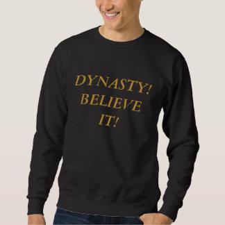 Negro con la camiseta de la DINASTÍA del oro Suéter