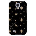 Negro con la galaxia de oro S4 de Samsung de las e