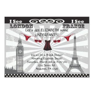 Negro con las invitaciones nupciales rojas de la invitación 12,7 x 17,8 cm