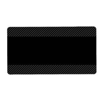 Negro con las rayas gris oscuro diagonales de la f etiqueta de envío