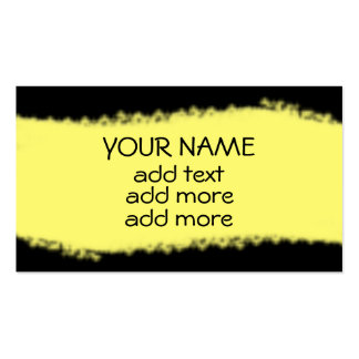 Negro con las tarjetas de visita amarillas de la r