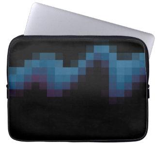 Negro con los cuadrados azul marino y púrpuras en  funda ordendadores