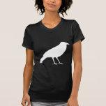 Negro con un cuervo blanco camiseta
