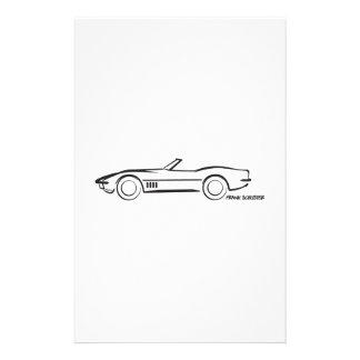 Negro convertible 1968 del Corvette Papeleria De Diseño