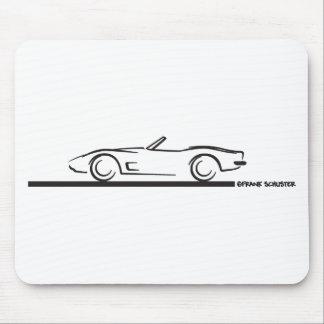 Negro convertible 1973 del Corvette Alfombrilla De Ratones