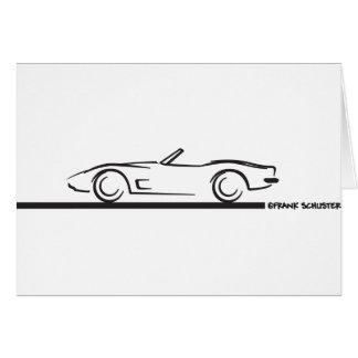 Negro convertible 1973 del Corvette Felicitacion