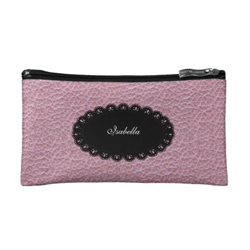 Negro cosmético del rosa del bolso
