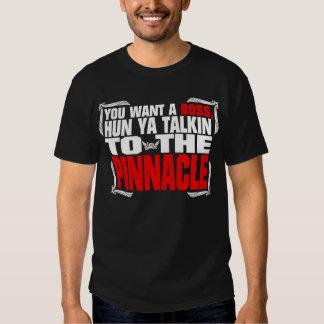 Negro cotizable del pináculo de la camiseta remeras
