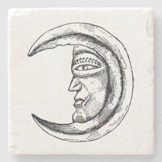 Negro creciente de piedra de la luna de Hilal Posavasos De Piedra