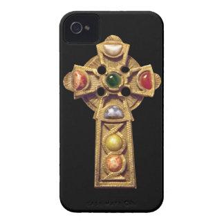 Negro cristiano céltico Jeweled del caso del iPhone 4 Case-Mate Coberturas