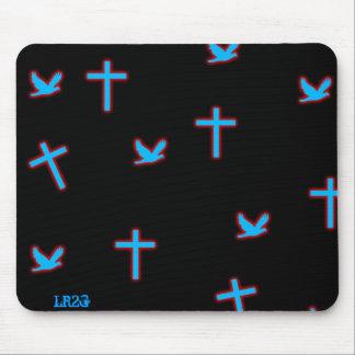 Negro cruzado de las palomas mousepads