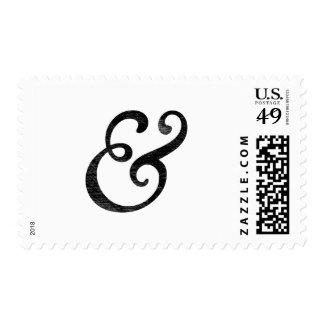 Negro cursivo de la prensa de copiar del viejo franqueo