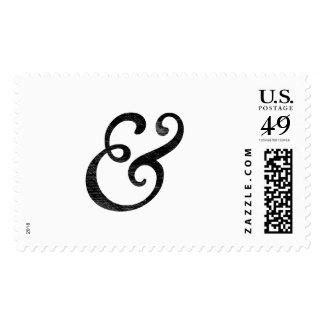 Negro cursivo de la prensa de copiar del viejo sellos