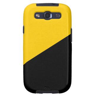 Negro de Anarcho y amarillo capitalistas Samsung Galaxy S3 Cárcasa