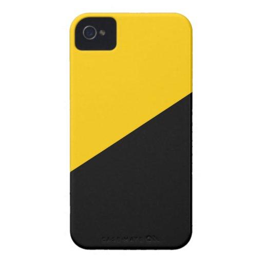 Negro de Anarcho y amarillo capitalistas iPhone 4 Cobertura