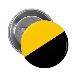 Negro de Anarcho y amarillo capitalistas Pin Redondo 5 Cm
