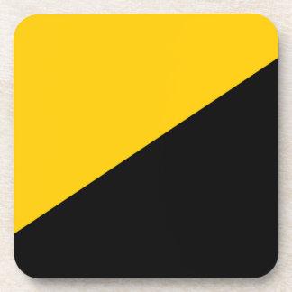 Negro de Anarcho y amarillo capitalistas Posavasos De Bebida