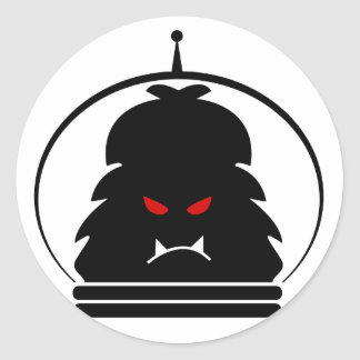 Negro de Astro Yeti con los ojos rojos Etiqueta Redonda