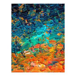 Negro de azules turquesas anaranjado de la MAREA 2 Plantillas De Membrete