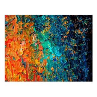 Negro de azules turquesas anaranjado de la MAREA 2 Tarjetas Postales