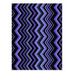 negro de azules zigzag1 tarjetas postales