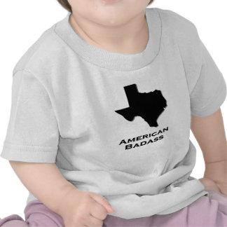 Negro de Badass del americano de Tejas Camisetas
