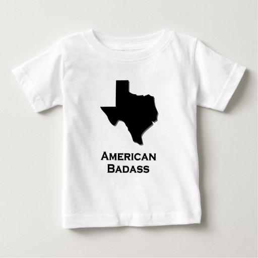Negro de Badass del americano de Tejas Playera De Bebé