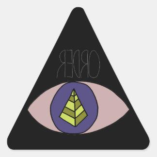 Negro de Badass Calcomania De Triangulo Personalizadas