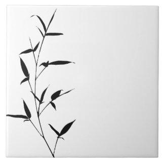 Negro de bambú del espacio en blanco de la azulejo cuadrado grande