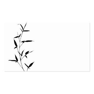 Negro de bambú del espacio en blanco de la tarjetas de visita