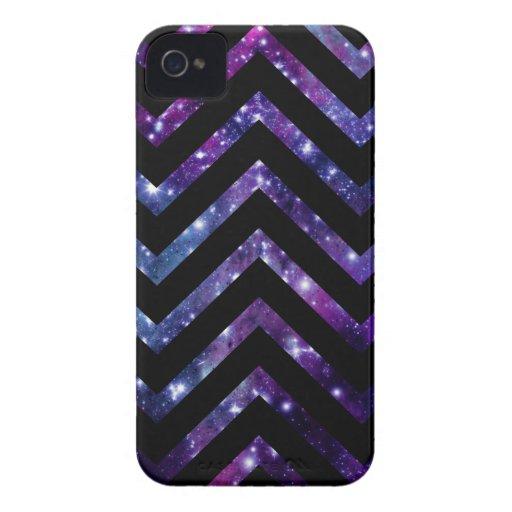 Negro de Chevron de la galaxia Carcasa Para iPhone 4 De Case-Mate
